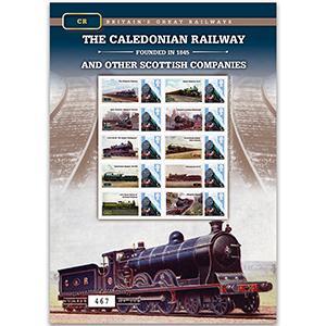 Caledonian Rail GB Customised Stamp Sheet