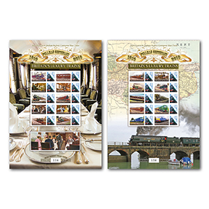 Pair of Pullman GB Customised Stamp Sheets
