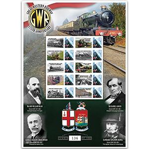 Great Western Railway 175th Anniversary GB Customised Stamp Sheet