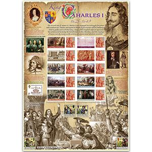 Charles I GB Customised Stamp Sheet - HoB 55