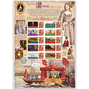 Queen Anne GB Customised Stamp Sheet - HoB 64