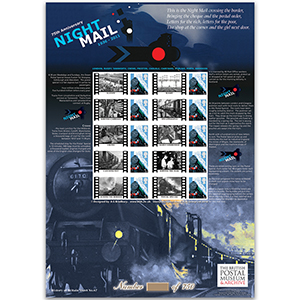 Night Mail Stamp Sheet - HoB 67
