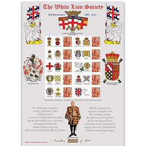 White Lion Society GB Customised Stamp Sheet -  HoB 66