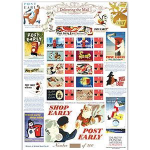 Post Early for Christmas GB Customised Stamp Sheet - HoB 65
