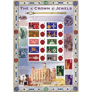 The Crown Jewels GB Customised Stamp Sheet - HoB 59