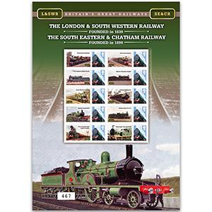 London & SW Rail and SE & Chatham Rail GB Customised Stamp Sheet
