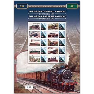 Great Central & Eastern Railway GB Customised Stamp Sheet