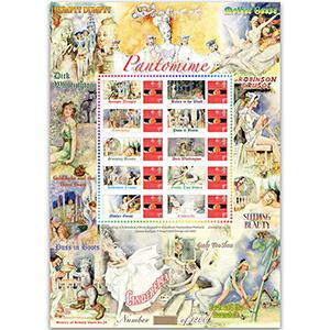 Pantomimes GB Customised Stamp Sheet - HoB 24