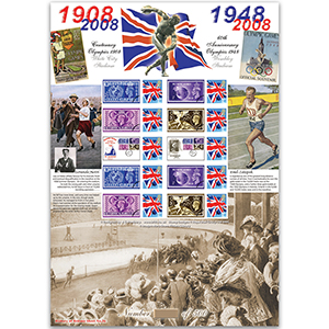 Olympic Anniversaries GB Sheet HoB 26