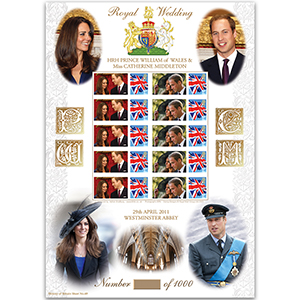 Royal Wedding GB Sheet - HoB 69