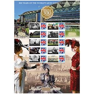 Royal Ascot GB Customised Stamp Sheet - HoB 73