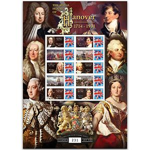 House of Hanover GB Customised Stamp Sheet