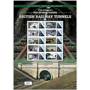 Railway Tunnels GB Customised Stamp Sheet