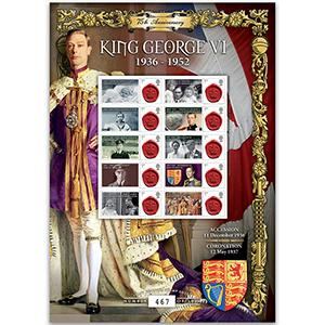 George VI Accession GB Customised Stamp Sheet