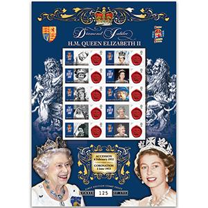 Diamond Jubilee GB Customised Stamp Sheet