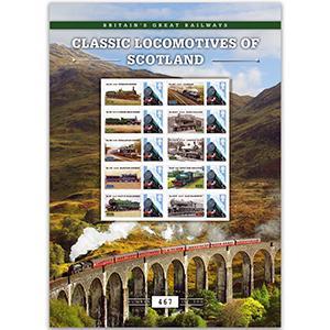 Classic Locomotives of Scotland GB Customised Stamp Sheet