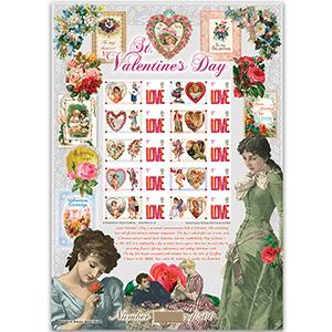 Valentines GB Customised Stamp Sheet - HoB 82