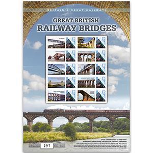 Great British Railway Bridges GB Customised Stamp Sheet