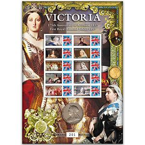 Queen Victoria Accession/Diamond Jubilee GB Customised Stamp Sheet