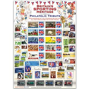 Britain's Sporting Heritage GB Customised Stamp Sheet -  HoB 85