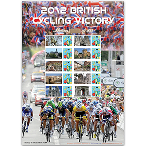 2012 British Cycling Victory GB sheet - HoB 89