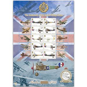Centenary of Royal Flying Corps GB Customised Sheet - Isle of Man No. 5