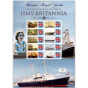 HMY Britannia 60th Anniversary GB Customised Stamp Sheet