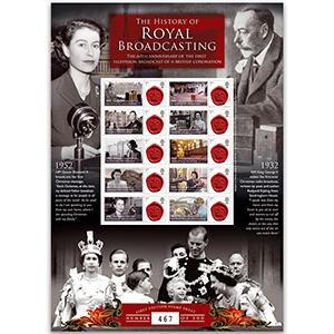Royal Broadcasting GB Customised Stamp Sheet