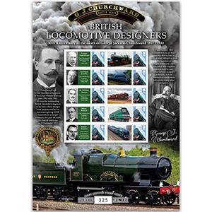 British Locomotive Designers - Churchward - GB Customised Stamp Sheet