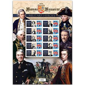 House of Hanover - Military Heroes GB Customised Stamp Sheet