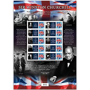 Sir Winston Churchill GB Customised Stamp Sheet