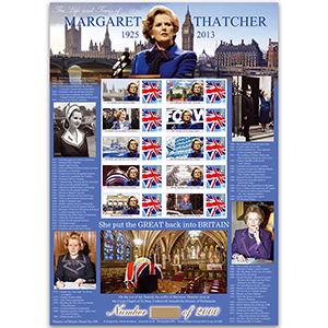 Margaret Thatcher sheet - HoB 100
