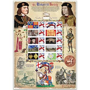 Richard III GB Customised Stamp Sheet - HoB 97