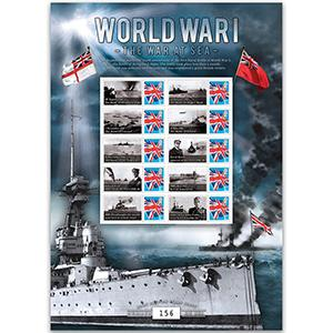 WWI 'The War at Sea' GB Customised Stamp Sheet