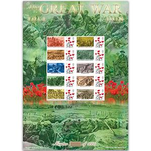 WWI - Life in the Trenches -  GB Customised Stamp Sheet - HoB 101