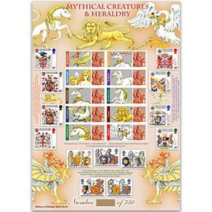 Mythical Creatures GB Customised Stamp Sheet - HoB 37