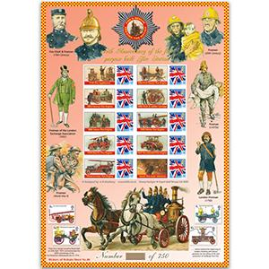 Fire & Rescue GB Customised Stamp Sheet - HoB 40