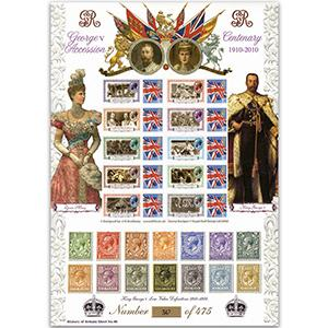 George V GB Customised Stamp Sheet - HoB 48