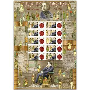 Charles Dickens GB Customised Stamp Sheet - HoB 83