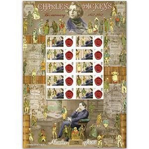Charles Dickens GB Customised Stamp Sheet - HoB 83