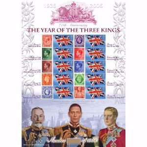 Year Of The Three Kings GB Customised Stamp Sheet - History of Britain No. 3
