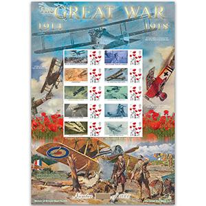WWI - Battle for the Skies GB Customised Stamp Sheet - HoB 103