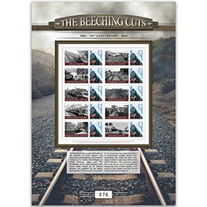 The Beeching Cuts GB Customised Stamp Sheet