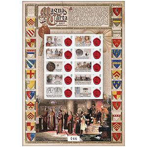 Magna Carta 800th Anniversary GB Customised Stamp Sheet