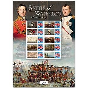 2015 Battle of Waterloo GB Customised Stamp Sheet