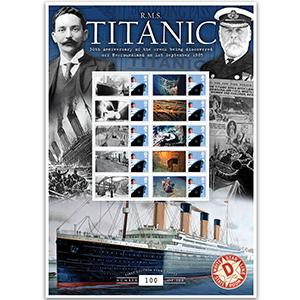 Titanic 30th Anniversary of Discovery of the Wreck GB Customised Stamp Sheet