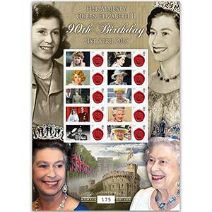 Queens 90th Birthday GB Customised Stamp Sheet