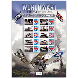 2016 WW1 Customised Stamp Sheet - 'The War in the Air'