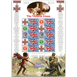 The Victoria Cross GB Customised Stamp Sheet - History of Britain No. 4