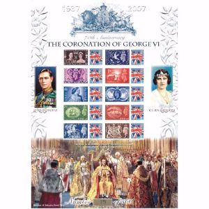 Coronation George VI GB Customised Stamp Sheet - History of Britain No. 6